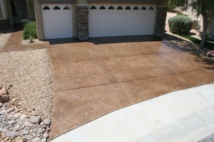 Applied to existing concrete